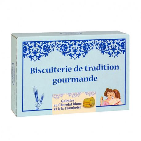 Galettes Chocolat blanc Framboise - Boîte carton 300g